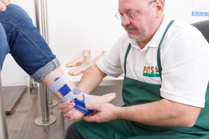Fits Orthopädie Fußorthesen Anprobe